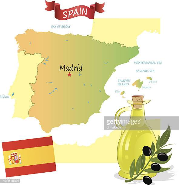 spain - bay of biscay stock illustrations, clip art, cartoons, & icons