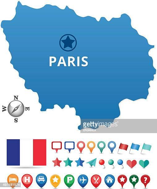 illustrations, cliparts, dessins animés et icônes de plan de paris - île de france