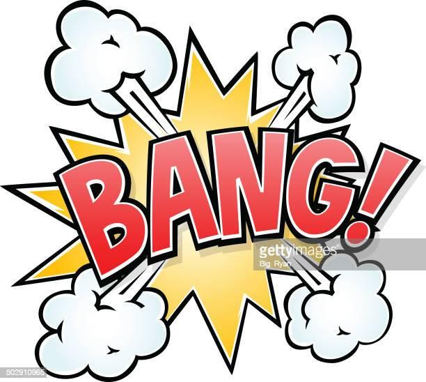 bang! - shooting a weapon stock illustrations