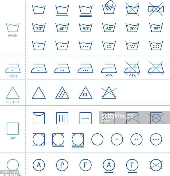 wäscherei symbole - wäsche stock-grafiken, -clipart, -cartoons und -symbole