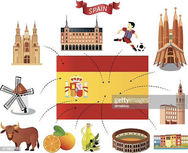 spain flag - seville stock illustrations, clip art, cartoons, & icons