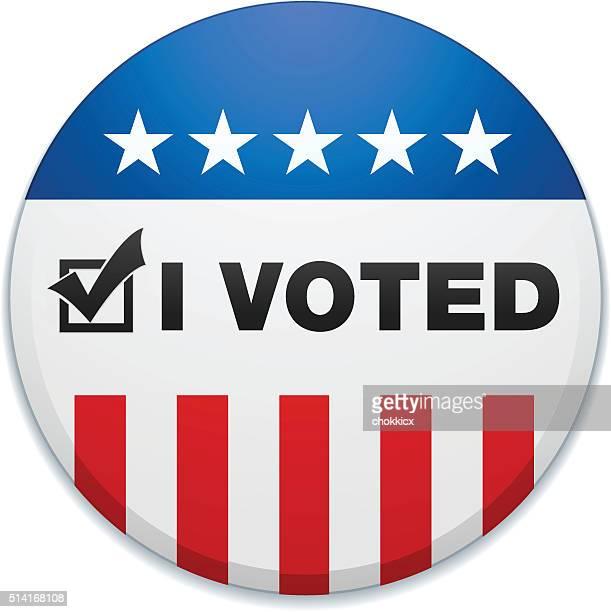 i voted - voting stock illustrations