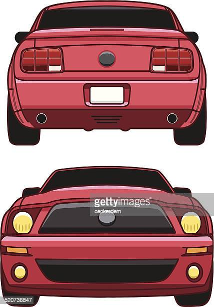 SPORT CAR FRONT AND BACK VIEW