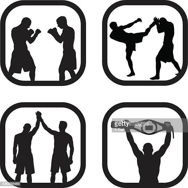 mma - mixed martial arts stock illustrations
