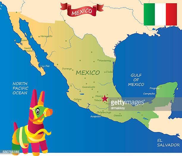 ilustrações, clipart, desenhos animados e ícones de o méxico - pinata
