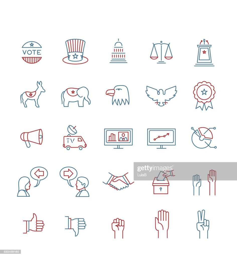USA ELECTIONS ICON SET