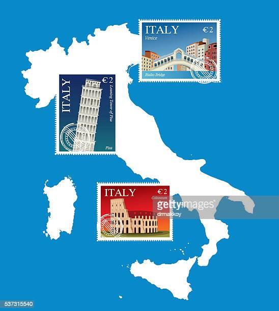 ITALIEN BRIEFMARKEN MAP771