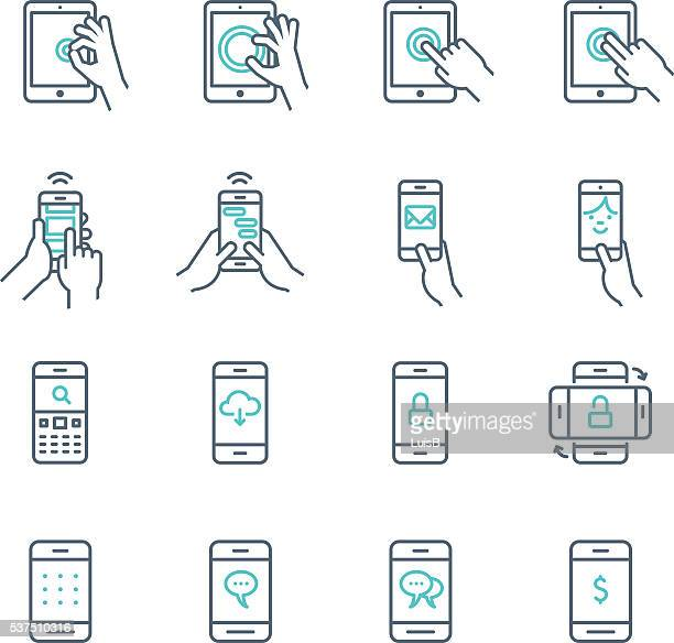 PHONE AND TABLET ICON SET