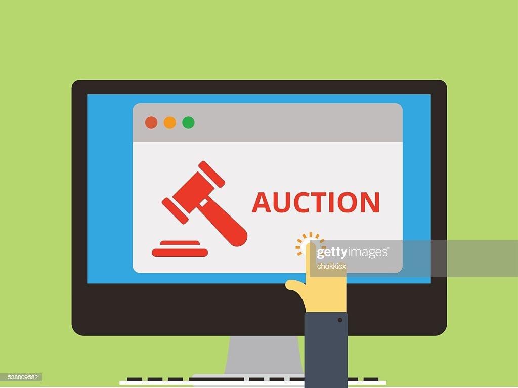 AUCTION : stock illustration
