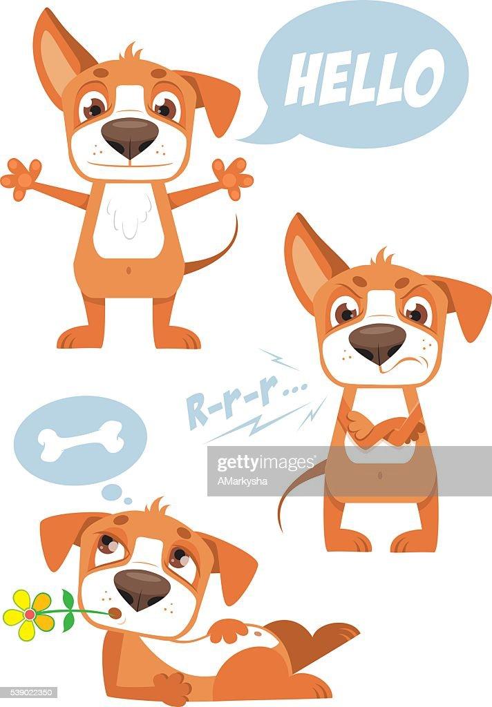 FUNNY VECTOR DOG