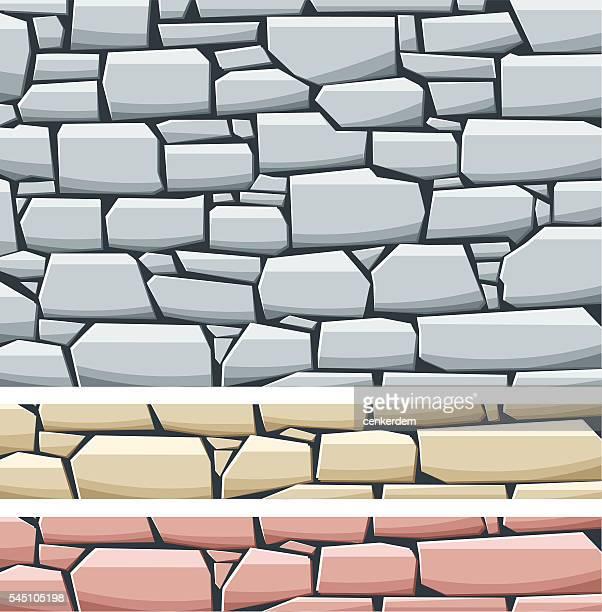 stone wall - stone stock illustrations, clip art, cartoons, & icons