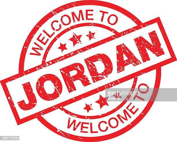 welcome to jordan - jordan middle east stock illustrations, clip art, cartoons, & icons
