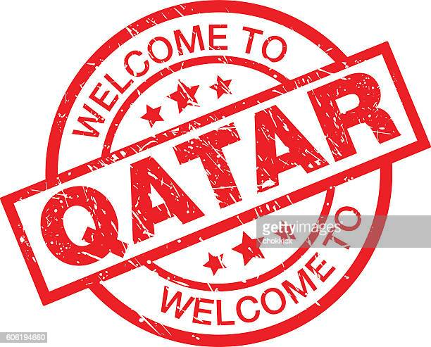 welcome to qatar - qatar stock illustrations, clip art, cartoons, & icons
