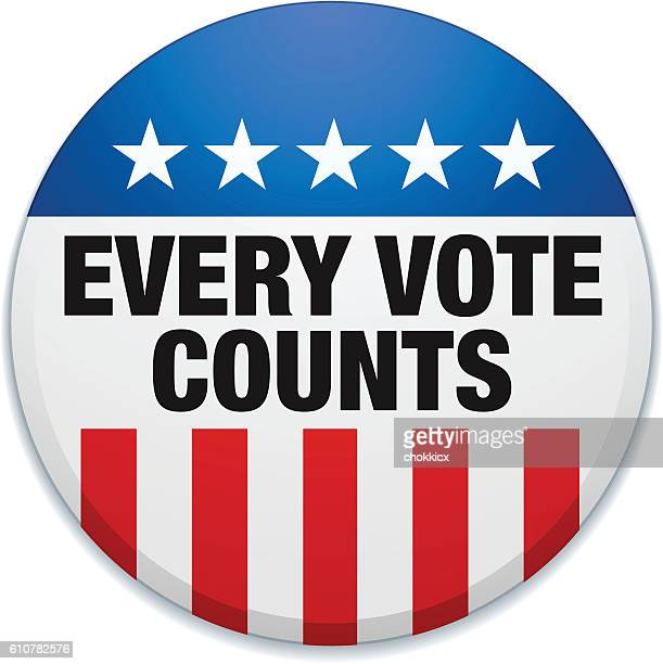 every vote counts - counting stock illustrations
