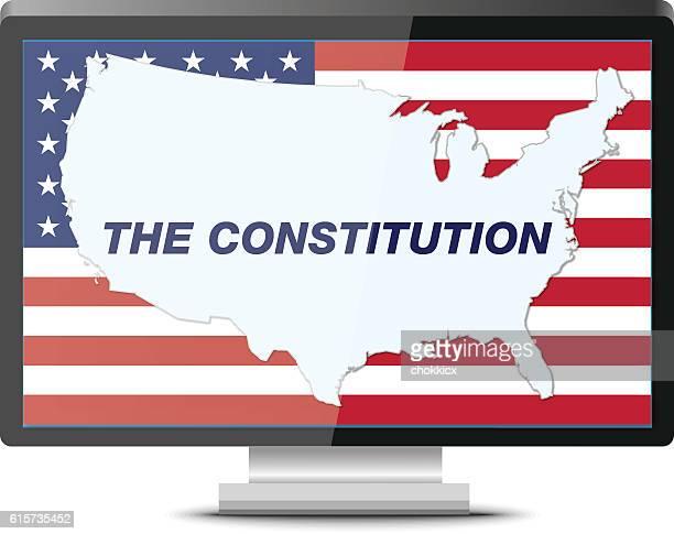 us constitution - bill of rights stock illustrations