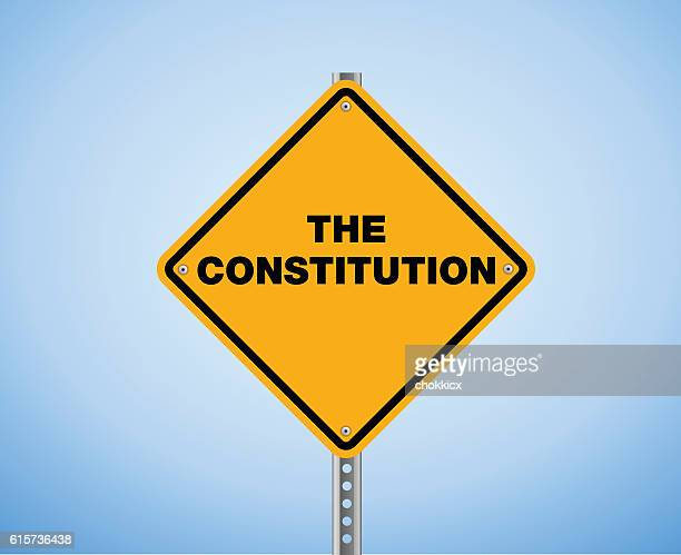 the constitution - bill of rights stock illustrations