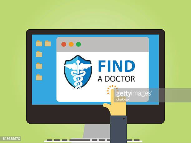 find a doctor - reveal stock illustrations, clip art, cartoons, & icons