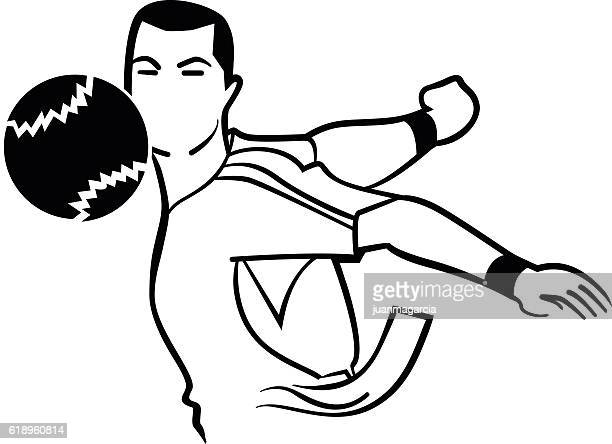 basque pelota player - en búsqueda stock illustrations