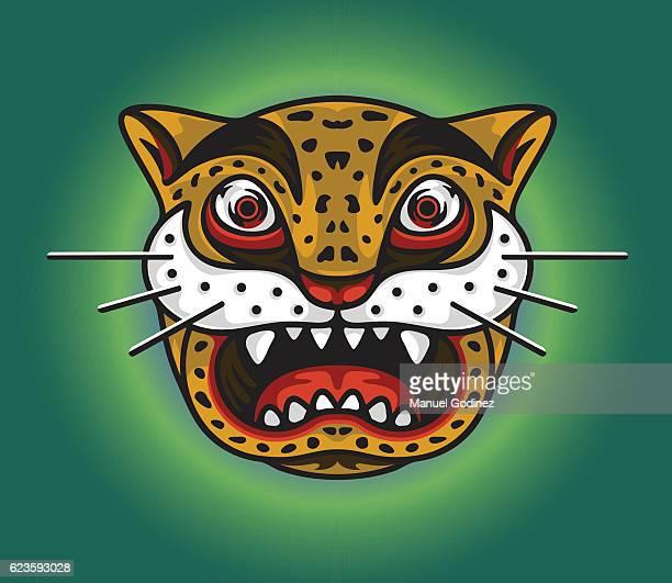 ilustraciones, imágenes clip art, dibujos animados e iconos de stock de surprised jaguar - jaguar