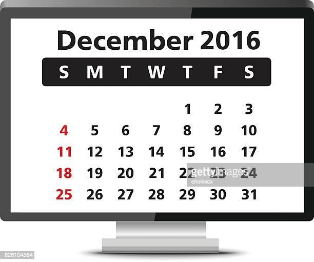 december 2016 - 2016 stock illustrations, clip art, cartoons, & icons