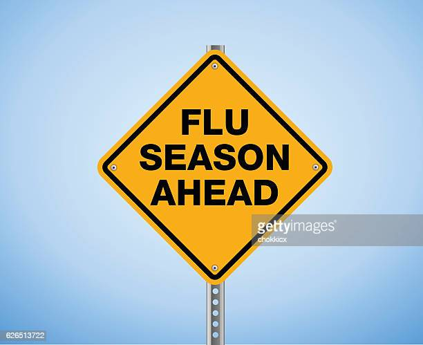 flu season ahead - season stock illustrations
