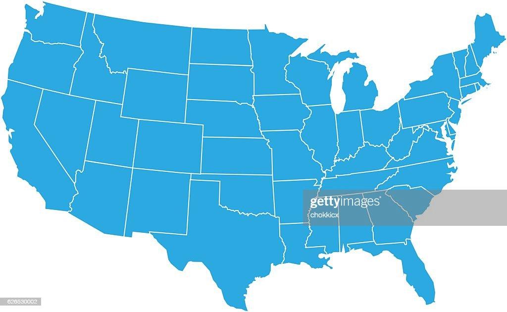 USA MAP : stock illustration