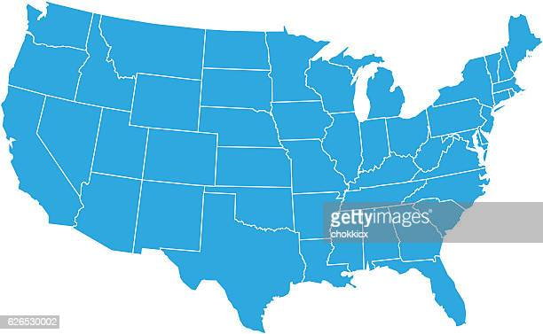 usa map - usa stock illustrations