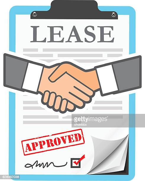 lease agreement - legal document stock illustrations, clip art, cartoons, & icons