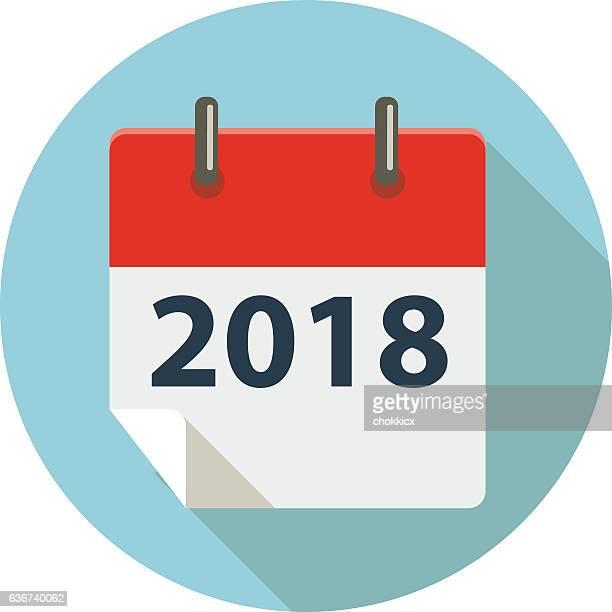 ilustraciones, imágenes clip art, dibujos animados e iconos de stock de 2018 - calendario