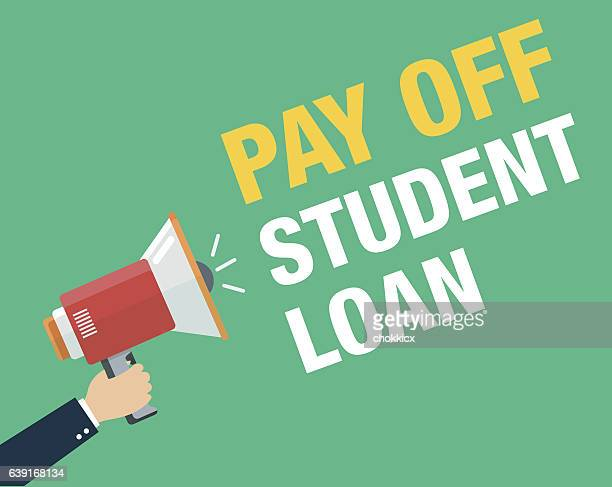 pay off student loan - bribing stock illustrations