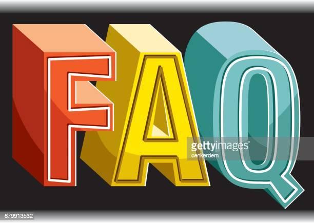 faq - q and a stock illustrations