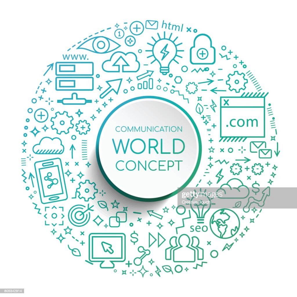 COMMUNICATION WORLD : stock illustration