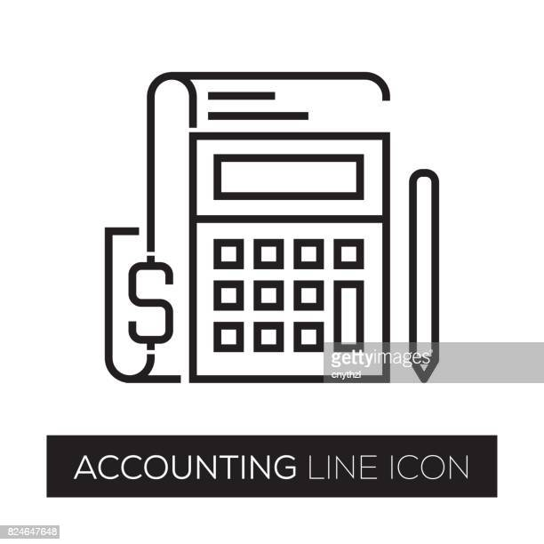 accounting line icon - accountancy stock illustrations, clip art, cartoons, & icons