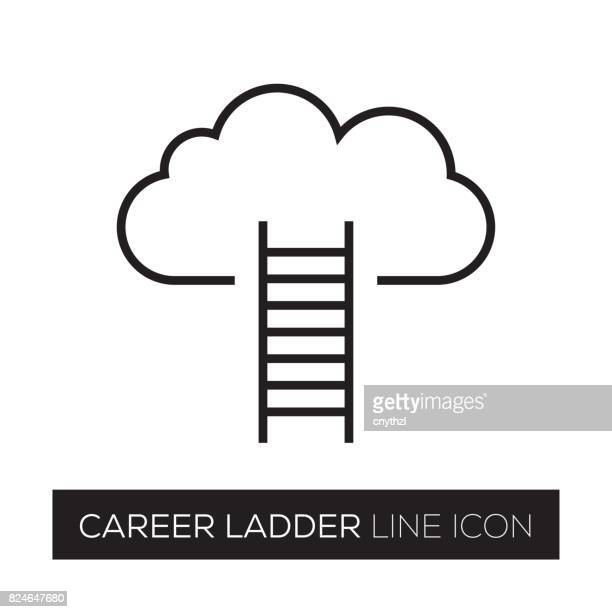 CAREER LADDER LINE ICON