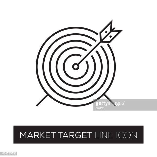 market target line icon - sport set competition round stock illustrations