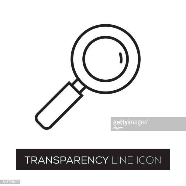 illustrazioni stock, clip art, cartoni animati e icone di tendenza di transparency line icon - tempo turno sportivo