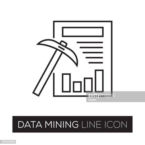 データ マイニングの線アイコン - データマイニング点のイラスト素材/クリップアート素材/マンガ素材/アイコン素材