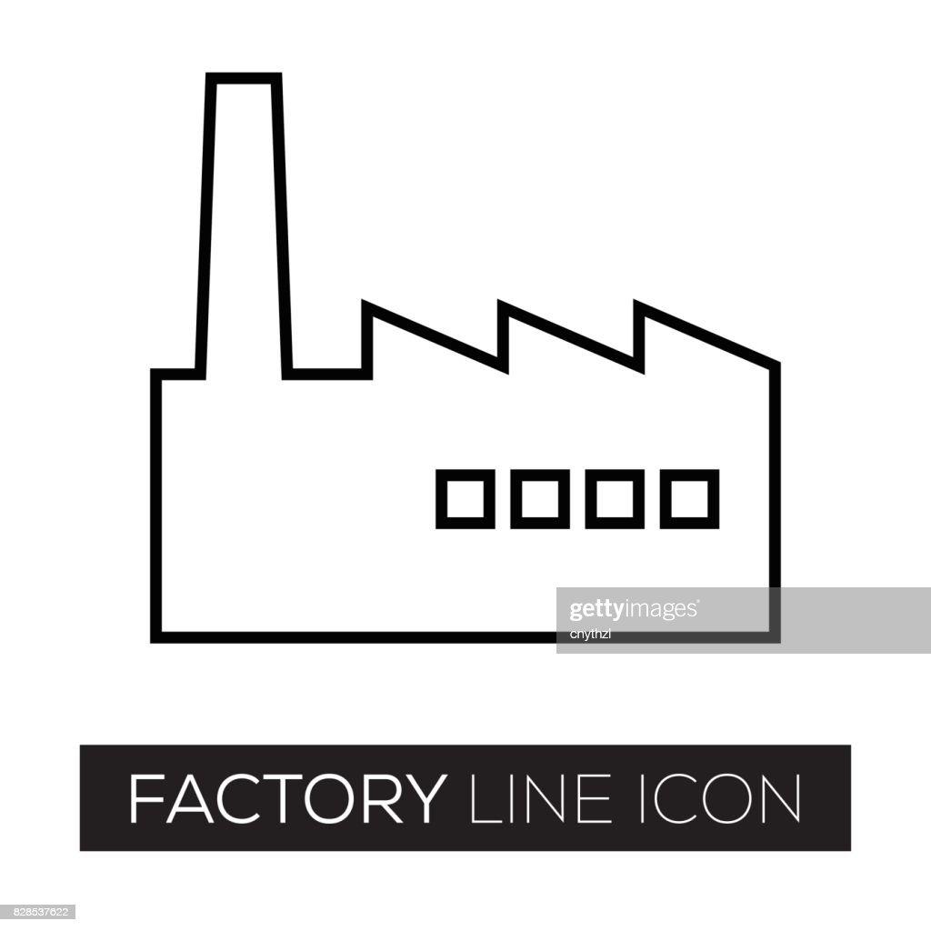 FACTORY LINE ICON : stock illustration