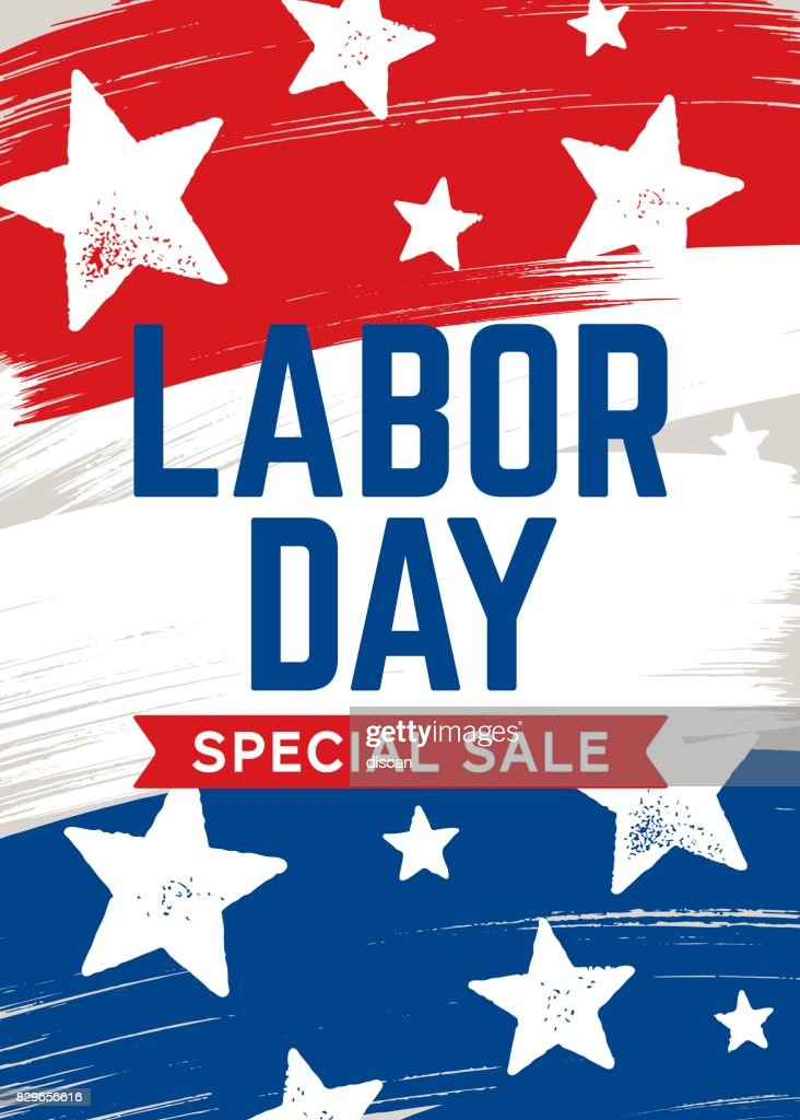 Labor Day Sale Karte Stock Illustration Getty Images