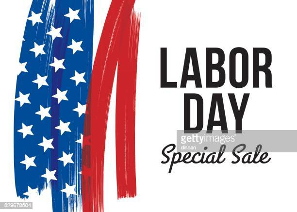 labor day sale card - labour day stock illustrations