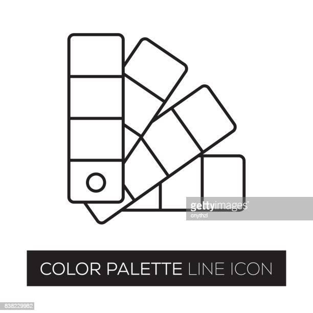 color palette - color swatch stock illustrations