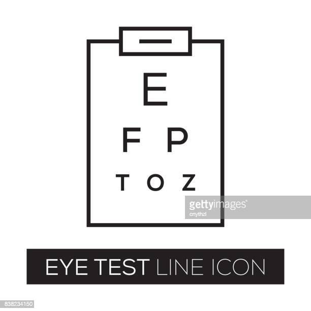 eye test - ophthalmology stock illustrations, clip art, cartoons, & icons