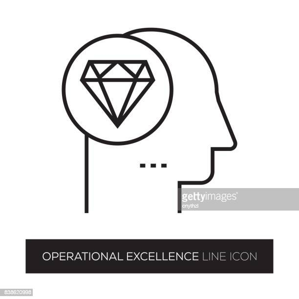 OPERATIONAL EXCELLENCE LINE ICON