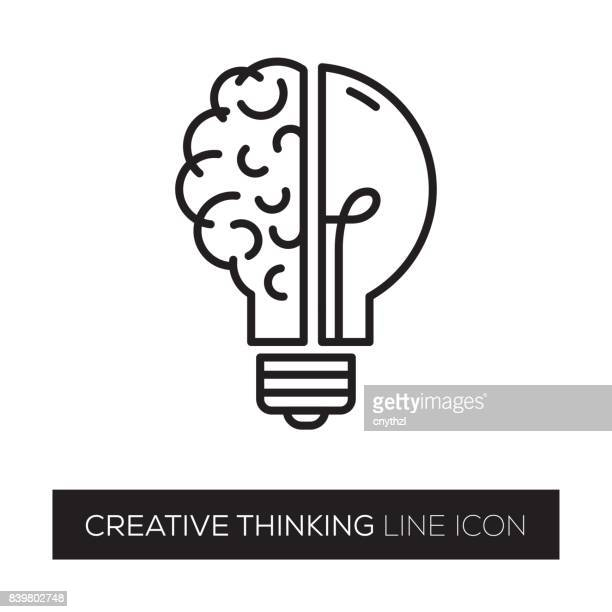 creative thinking - brain stock illustrations