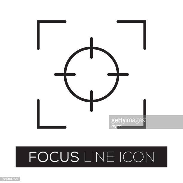 focus - aiming stock illustrations