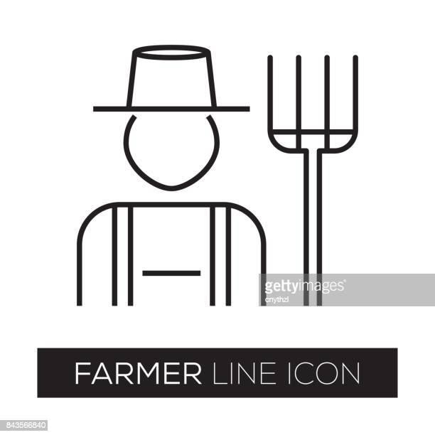 FARMER LINE ICON
