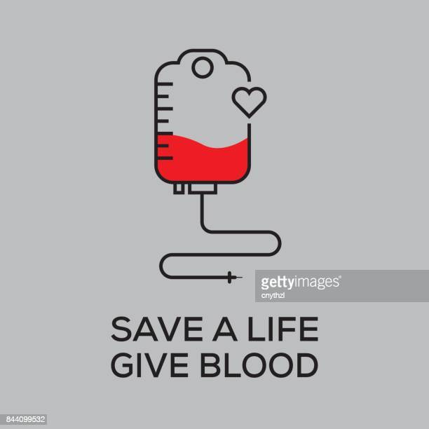 blood donation concept - blood stock illustrations, clip art, cartoons, & icons