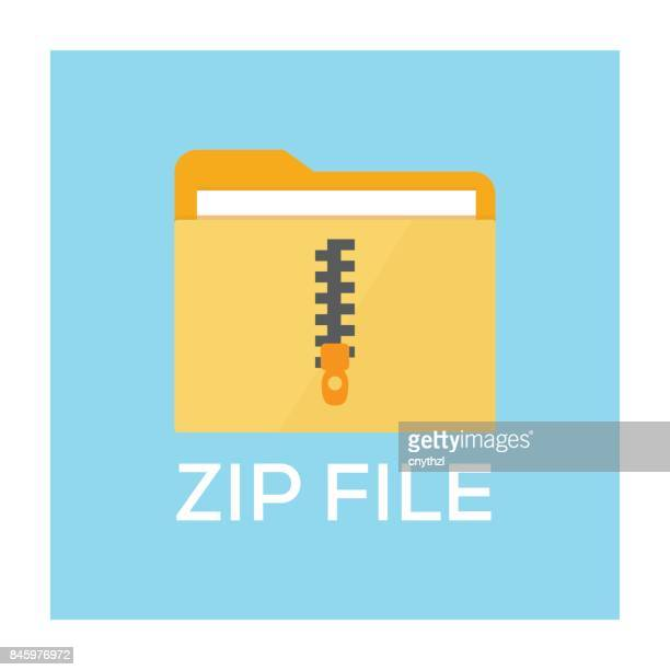 zip file concept - files stock illustrations, clip art, cartoons, & icons
