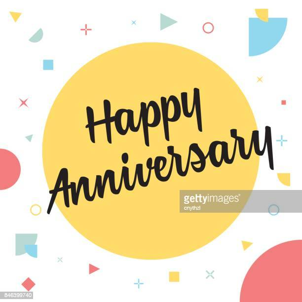 happy anniversary concept - anniversary stock illustrations, clip art, cartoons, & icons