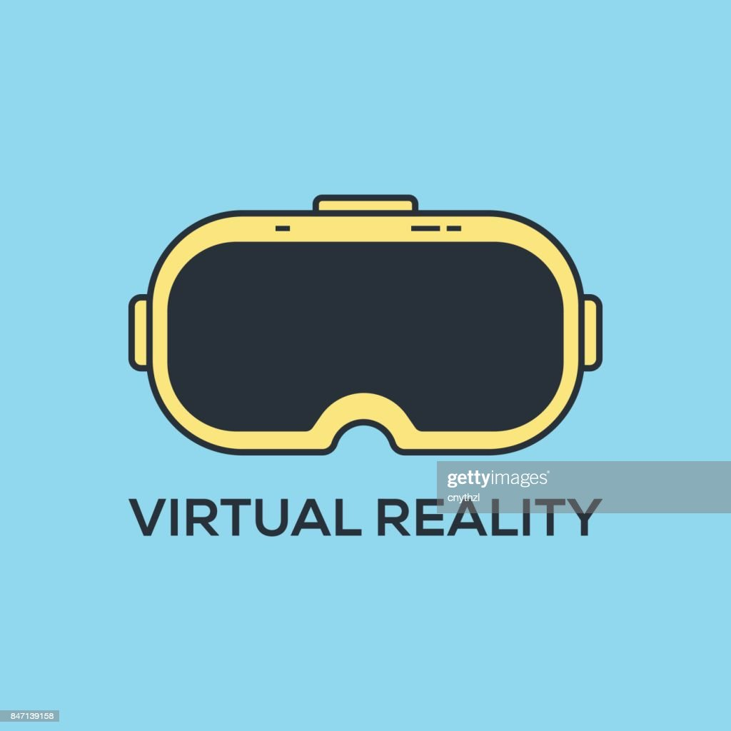 VIRTUAL REALITY CONCEPT : stock illustration